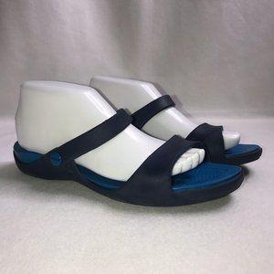 Crocs Dual Comfort Slide Wedge Sandals Women's 9